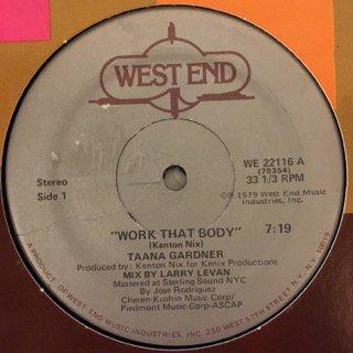 """TAANA GARDNER - WORK THAT BODY - 12"""" (WEST END)"""