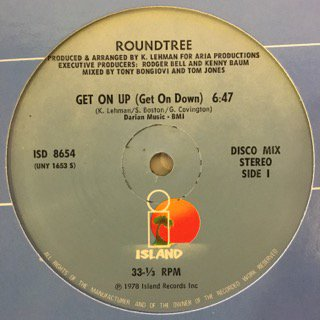 """ROUNDTREE - GET ON UP (GET ON DOWN) / MANHATTAN - 12"""" (ISLAND)"""