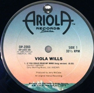 """VIOLA WILLS - IF YOU COULD READ MY MIND (LONG VERSION) - 12"""" (ARIOLA)"""