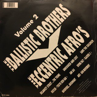 """BALLISTIC BROTHERS V THE ECCENTRIC AFRO'S - VOLUME 2 - LP+12"""" (ON DELANCEY STREET)"""