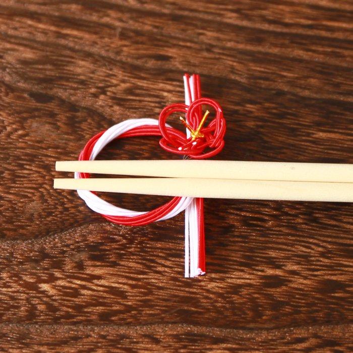 梅飾りの水引箸置き 赤×白