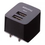 USBコンセントチャージャー2.1A 2ポート/ブラック