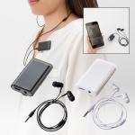 Bluetoothオーディオレシーバー(イヤホン付)/ブラック