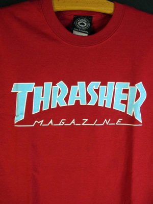 THRASHER _s/s tee_OUTLINED / RED