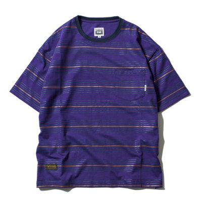 Tightbooth / BORDER T-shirt / Purple