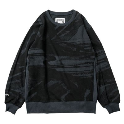 Tightbooth / NOISE CREW NECK / BLACK