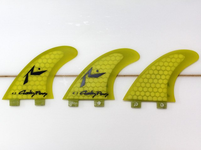 RUSTY CURTIS TRI FIN 4.3 yellow