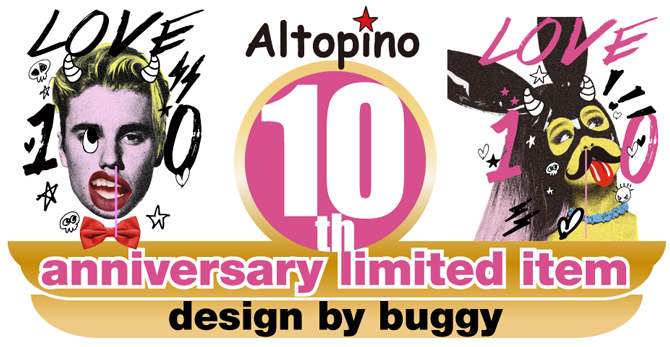 altopino10th-buggy-Tシャツ 通販