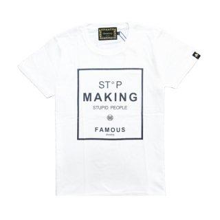 <img class='new_mark_img1' src='https://img.shop-pro.jp/img/new/icons1.gif' style='border:none;display:inline;margin:0px;padding:0px;width:auto;' />drestrip |ドレストリップ | グラフィックプリントTシャツ(STOP MAKING)|ホワイト
