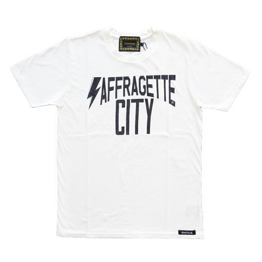 drestrip ドレストリップ SAFFRAGETTE CITY プリントTシャツ/ホワイト