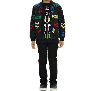 <img class='new_mark_img1' src='//img.shop-pro.jp/img/new/icons1.gif' style='border:none;display:inline;margin:0px;padding:0px;width:auto;' />Marcelo burlon Kids(マルセロバーロン キッズ)|KIDS OF MILAN|PATAGONIA Bomberブルゾン|ブラック