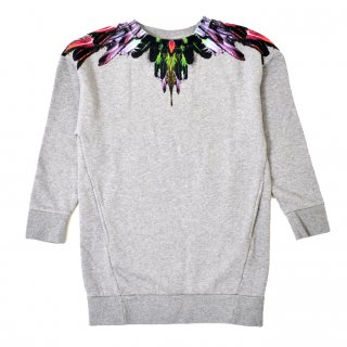 <img class='new_mark_img1' src='//img.shop-pro.jp/img/new/icons16.gif' style='border:none;display:inline;margin:0px;padding:0px;width:auto;' />【30%OFF】Marcelo burlon Kids(マルセロバーロン キッズ)| KIDS OF MILAN|WING FLUO  裏起毛ワンピ−ス/グレー