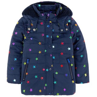 <img class='new_mark_img1' src='//img.shop-pro.jp/img/new/icons1.gif' style='border:none;display:inline;margin:0px;padding:0px;width:auto;' />Stella McCartney Kids(ステラマッカートニー キッズ)|2016秋冬新作 星プリント中綿入りブルゾン・コート|ネイビー