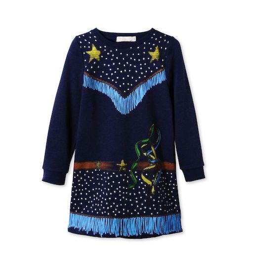 Stella McCartney Kids(ステラマッカートニー キッズ)|2016秋冬新作 カウガールプリントスウェットワンピース・ドレス|ネイ…
