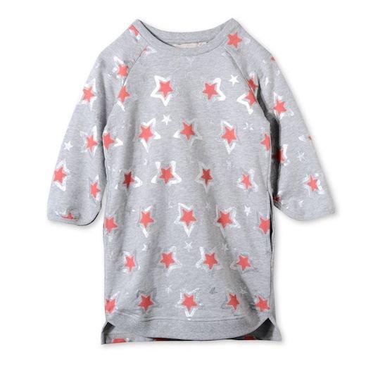 Stella McCartney Kids(ステラマッカートニー キッズ)|2016秋冬新作 星プリントスウェットワンピース・ドレス|グ…