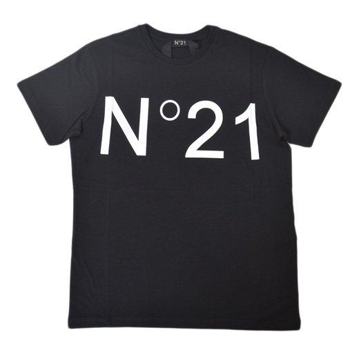 【再入荷】N°21メンズ | ヌメロヴェントゥーノ メンズ|正規取扱店|ユニセックスアイテム|定番ロゴプリント半袖Tシャツ/ブラック