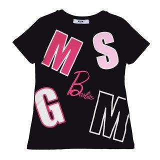 <img class='new_mark_img1' src='https://img.shop-pro.jp/img/new/icons1.gif' style='border:none;display:inline;margin:0px;padding:0px;width:auto;' />MSGM KIDS通販|エムエスジーエムキッズ|大阪正規取扱店舗| Barbieコラボレーションロゴ入りTシャツ|ブラック