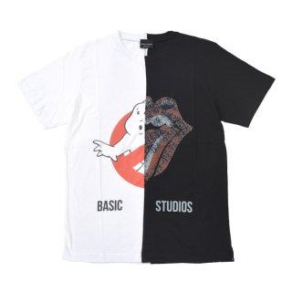 BASIC STUDIOS|ベーシックスタジオス通販|大阪正規取扱店舗|送料無料|最短翌日着|切り替え半袖Tシャツ-123|ブラック&ホワイト