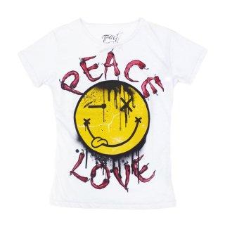 Tract|トラクト 通販|大阪正規取扱店舗|最短翌日着|SMAILE PEACE&LOVE半袖Tシャツ|ホワイト