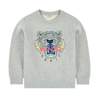 <img class='new_mark_img1' src='//img.shop-pro.jp/img/new/icons1.gif' style='border:none;display:inline;margin:0px;padding:0px;width:auto;' />KENZO KIDS 通販|子供服|大阪正規取扱店舗|TIGER ロゴ入りスウェット・トレーナー|グレー