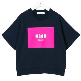 <img class='new_mark_img1' src='//img.shop-pro.jp/img/new/icons1.gif' style='border:none;display:inline;margin:0px;padding:0px;width:auto;' />MSGM KIDS|エムエスジーエムキッズ 通販|大阪正規取扱店舗|BOXロゴプリント 半袖スウェット・トレーナー|ブラック