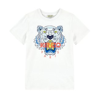 <img class='new_mark_img1' src='//img.shop-pro.jp/img/new/icons1.gif' style='border:none;display:inline;margin:0px;padding:0px;width:auto;' />KENZO KIDS |ケンゾーキッズ 子供服 通販|大阪正規取扱店舗|TIGER ロゴ入り半袖Tシャツ|ホワイト