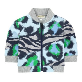 <img class='new_mark_img1' src='https://img.shop-pro.jp/img/new/icons1.gif' style='border:none;display:inline;margin:0px;padding:0px;width:auto;' />KENZO KIDS |ケンゾーキッズ 子供服 通販|大阪正規取扱店舗|レオパードプリント スウェットZIP UPブルゾン|グレー