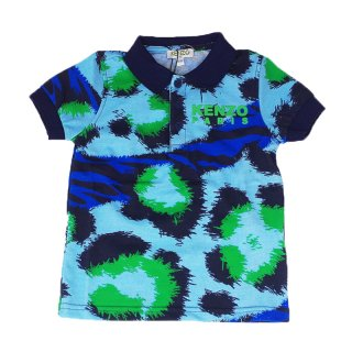 <img class='new_mark_img1' src='//img.shop-pro.jp/img/new/icons1.gif' style='border:none;display:inline;margin:0px;padding:0px;width:auto;' />KENZO KIDS |ケンゾーキッズ 子供服 通販|大阪正規取扱店舗|レオパード柄 ポロシャツ|ブルー
