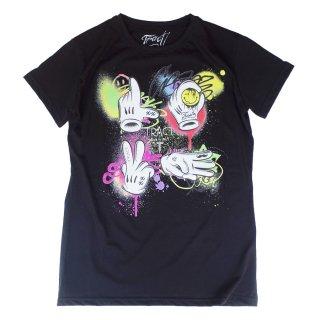 Tract|トラクト 通販|大阪正規取扱店舗|最短翌日着|LOVEプリント 半袖Tシャツ|ブラック