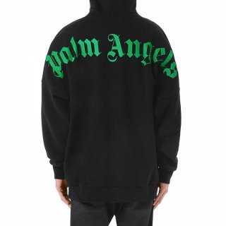 <img class='new_mark_img1' src='https://img.shop-pro.jp/img/new/icons1.gif' style='border:none;display:inline;margin:0px;padding:0px;width:auto;' />Palm Angels|パームエンジェルス メンズ通販|大阪正規取扱店舗|最短翌日着|LOGO OVERパーカー|ブラック