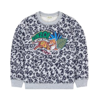 <img class='new_mark_img1' src='https://img.shop-pro.jp/img/new/icons1.gif' style='border:none;display:inline;margin:0px;padding:0px;width:auto;' />KENZO KIDS |ケンゾーキッズ 子供服 通販|大阪正規取扱店舗|TIGER 刺繍スウェット・トレーナー|グレー
