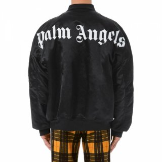 <img class='new_mark_img1' src='https://img.shop-pro.jp/img/new/icons1.gif' style='border:none;display:inline;margin:0px;padding:0px;width:auto;' />Palm Angels|パームエンジェルス メンズ通販|大阪正規取扱店舗|最短翌日着|LOGO OVER BOMBERブルゾン|ブラック