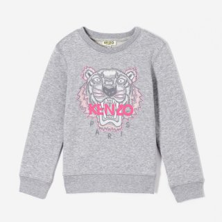 <img class='new_mark_img1' src='https://img.shop-pro.jp/img/new/icons1.gif' style='border:none;display:inline;margin:0px;padding:0px;width:auto;' />【ラスト1点】KENZO KIDS |ケンゾーキッズ 子供服 通販|大阪正規取扱店舗|TIGER 刺繍スウェット・トレーナー|グレー
