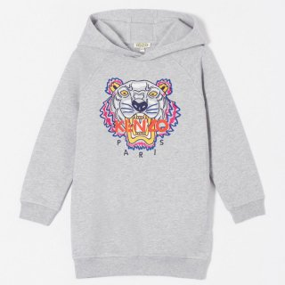 <img class='new_mark_img1' src='https://img.shop-pro.jp/img/new/icons1.gif' style='border:none;display:inline;margin:0px;padding:0px;width:auto;' />【ラスト1点】KENZO KIDS |ケンゾーキッズ 子供服 通販|大阪正規取扱店舗|TIGER 刺繍スウェットワンピース|グレー