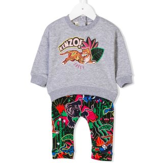 <img class='new_mark_img1' src='//img.shop-pro.jp/img/new/icons1.gif' style='border:none;display:inline;margin:0px;padding:0px;width:auto;' />KENZO KIDS |ケンゾーキッズ 子供服 通販|大阪正規取扱店舗|TIGER プリントスウェット・レギンスセット|グレー