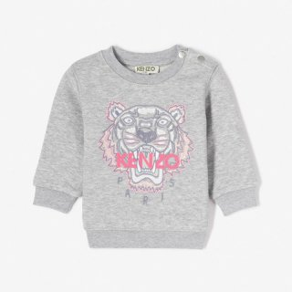 <img class='new_mark_img1' src='//img.shop-pro.jp/img/new/icons1.gif' style='border:none;display:inline;margin:0px;padding:0px;width:auto;' />KENZO KIDS |ケンゾーキッズ 子供服 通販|大阪正規取扱店舗|ベビーサイズTIGER 刺繍スウェット・トレーナー|グレー