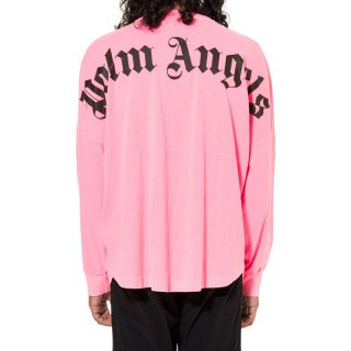 <img class='new_mark_img1' src='//img.shop-pro.jp/img/new/icons1.gif' style='border:none;display:inline;margin:0px;padding:0px;width:auto;' />Palm Angels|パームエンジェルス メンズ通販|大阪正規取扱店舗|最短翌日着|LOGO OVER長袖Tシャツ|ネオンピンク