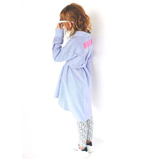 <img class='new_mark_img1' src='https://img.shop-pro.jp/img/new/icons1.gif' style='border:none;display:inline;margin:0px;padding:0px;width:auto;' />MSGM KIDS|エムエスジーエムキッズ 通販|大阪正規取扱店舗|ストライプシャツワンピース|ブルー
