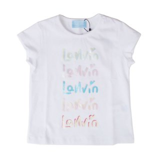 <img class='new_mark_img1' src='https://img.shop-pro.jp/img/new/icons1.gif' style='border:none;display:inline;margin:0px;padding:0px;width:auto;' />LANVIN KIDS|ランバン キッズ|子供服|大阪正規取扱店|ホログラムロゴ 半袖Tシャツ|ホワイト
