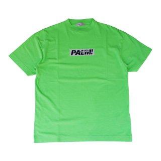 <img class='new_mark_img1' src='https://img.shop-pro.jp/img/new/icons1.gif' style='border:none;display:inline;margin:0px;padding:0px;width:auto;' />Palm Angels|パームエンジェルス メンズ通販|大阪正規取扱店舗|最短翌日着|PALM! BOX LOGO 半袖Tシャツ|グリーン