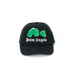 <img class='new_mark_img1' src='https://img.shop-pro.jp/img/new/icons1.gif' style='border:none;display:inline;margin:0px;padding:0px;width:auto;' />【ラスト1点】Palm Angels|パームエンジェルス メンズ通販|大阪正規取扱店舗|最短翌日着|KILL THE BEAR CAP|ブラック×グリーン