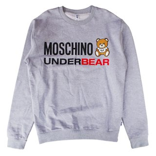 <img class='new_mark_img1' src='https://img.shop-pro.jp/img/new/icons1.gif' style='border:none;display:inline;margin:0px;padding:0px;width:auto;' />MOSCHINO UNDERWEAR|モスキーノアンダーウェア通販|大阪正規取扱店舗|最短翌日着|BEARプリントロゴ スウェット・トレーナー|グレー