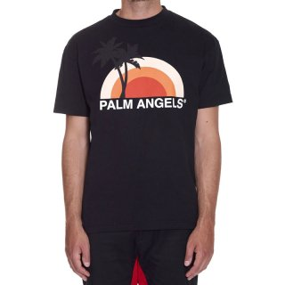 <img class='new_mark_img1' src='https://img.shop-pro.jp/img/new/icons1.gif' style='border:none;display:inline;margin:0px;padding:0px;width:auto;' />Palm Angels|パームエンジェルス メンズ通販|大阪正規取扱店舗|最短翌日着|SUNSET 半袖Tシャツ|ブラック