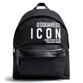 <img class='new_mark_img1' src='https://img.shop-pro.jp/img/new/icons1.gif' style='border:none;display:inline;margin:0px;padding:0px;width:auto;' />【ラスト1点】DSQUARED 2|ディースクエアード メンズ通販|ロゴ バックパック|ブラック