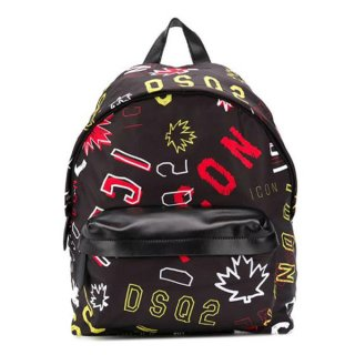 <img class='new_mark_img1' src='https://img.shop-pro.jp/img/new/icons1.gif' style='border:none;display:inline;margin:0px;padding:0px;width:auto;' />【ラスト1点】DSQUARED 2|ディースクエアード メンズ通販|ICON バックパック|ブラック