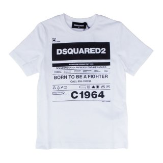 <img class='new_mark_img1' src='https://img.shop-pro.jp/img/new/icons1.gif' style='border:none;display:inline;margin:0px;padding:0px;width:auto;' />DSQUARED2 KIDS|ディースクエアード キッズ 通販|C1964 半袖Tシャツ|ホワイト