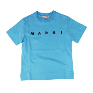 <img class='new_mark_img1' src='https://img.shop-pro.jp/img/new/icons1.gif' style='border:none;display:inline;margin:0px;padding:0px;width:auto;' />MARNI KIDS|マルニ キッズ 通販|ロゴプリント 半袖Tシャツ|ブルー