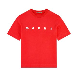 <img class='new_mark_img1' src='https://img.shop-pro.jp/img/new/icons1.gif' style='border:none;display:inline;margin:0px;padding:0px;width:auto;' />MARNI KIDS|マルニ キッズ 通販|ロゴプリント 半袖Tシャツ|オレンジ