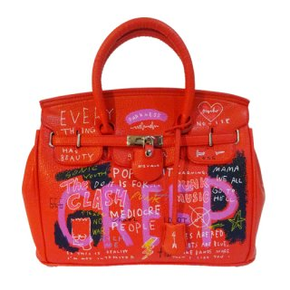 Guernika(ゲルニカ)|SHINICHIROUINUI |Hand Painted Bag 'BIRKIN' (RED-1)|guernika (ゲルニカ)