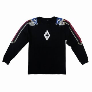 <img class='new_mark_img1' src='https://img.shop-pro.jp/img/new/icons1.gif' style='border:none;display:inline;margin:0px;padding:0px;width:auto;' />【メンズアイテム/長袖Tシャツ】Marcelo burlon (マルセロバーロン )TWINS TIGER /Black